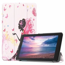 Lenovo Tab E8 hoes (TB-8304F) - Tri-Fold Book Case - Flower Fee