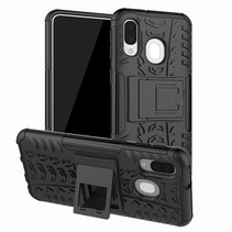 Samsung Galaxy A40 hoes - Schokbestendige Back Cover - Zwart