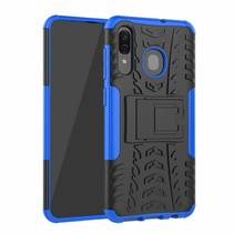 Samsung Galaxy A30 hoes - Schokbestendige Back Cover - Blauw