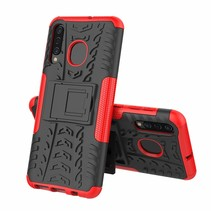 Samsung Galaxy A50 hoes - Schokbestendige Back Cover - Rood