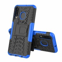 Samsung Galaxy A50 hoes - Schokbestendige Back Cover - Blauw
