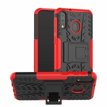 Samsung Galaxy M20 hoes - Schokbestendige Back Cover - Rood