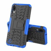 Samsung Galaxy M10 hoes - Schokbestendige Back Cover - Blauw