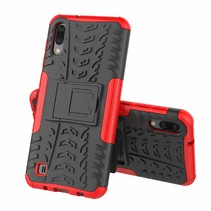 Samsung Galaxy M10 hoes - Schokbestendige Back Cover - Rood