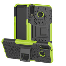 Samsung Galaxy A6s hoes - Schokbestendige Back Cover - Groen