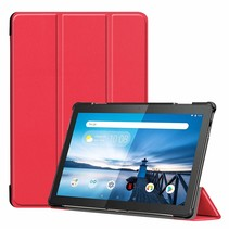 Lenovo Tab M10  hoes  - Tri-Fold Book Case (TB-X605) - Rood