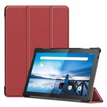 Lenovo Tab M10  hoes  - Tri-Fold Book Case (TB-X605) - Donker Rood