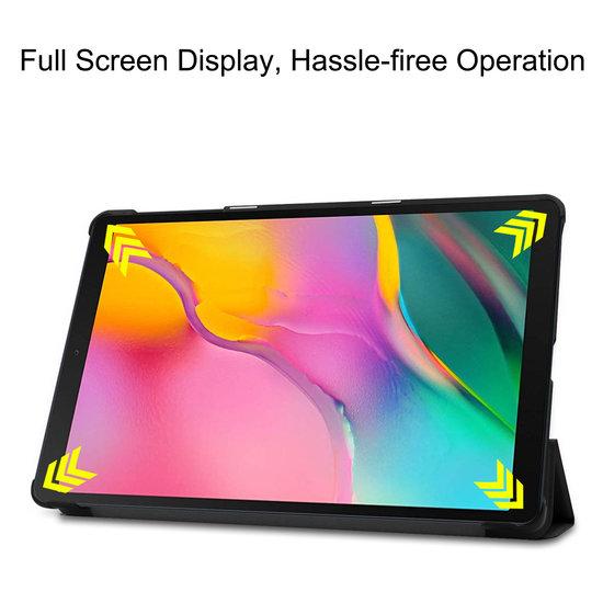 Case2go Samsung Galaxy Tab A 2019 hoes - Tri-Fold Book Case - Zwart