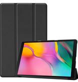 Case2go Samsung Galaxy Tab A 10.1 (2019) hoes - Tri-Fold Book Case - Zwart