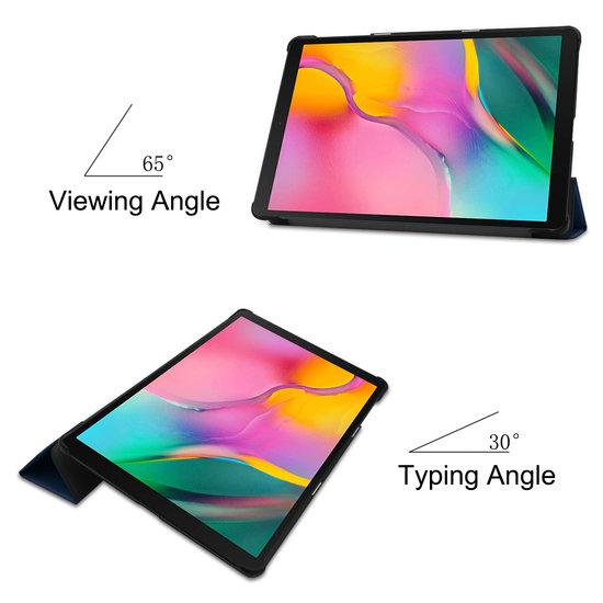 Case2go Samsung Galaxy Tab A 10.1 (2019) hoes - Tri-Fold Book Case - Donker Blauw