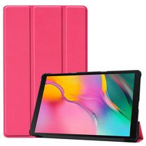 Samsung Galaxy Tab A 10.1 (2019) hoes - Tri-Fold Book Case - Magenta