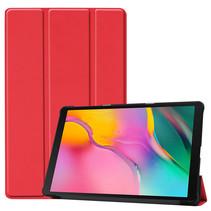 Samsung Galaxy Tab A 10.1 (2019) hoes - Tri-Fold Book Case - Rood