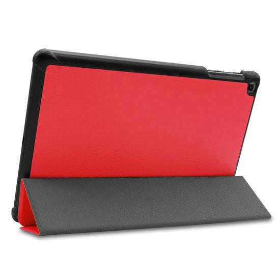 Case2go Samsung Galaxy Tab A 10.1 (2019) hoes - Tri-Fold Book Case - Rood
