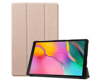 Samsung Galaxy Tab A 10.1 (2019) hoes - Tri-Fold Book Case - Goud