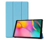 Samsung Galaxy Tab A 10.1 (2019) hoes - Tri-Fold Book Case - Licht Blauw