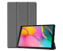 Samsung Galaxy Tab A 10.1 (2019) hoes - Tri-Fold Book Case - Grijs