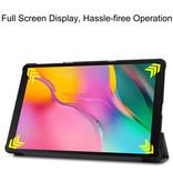Case2go Samsung Galaxy Tab A 10.1 (2019) hoes - Tri-Fold Book Case - Grijs
