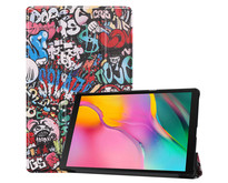Samsung Galaxy Tab A 10.1 (2019) hoes - Tri-Fold Book Case - Graffiti