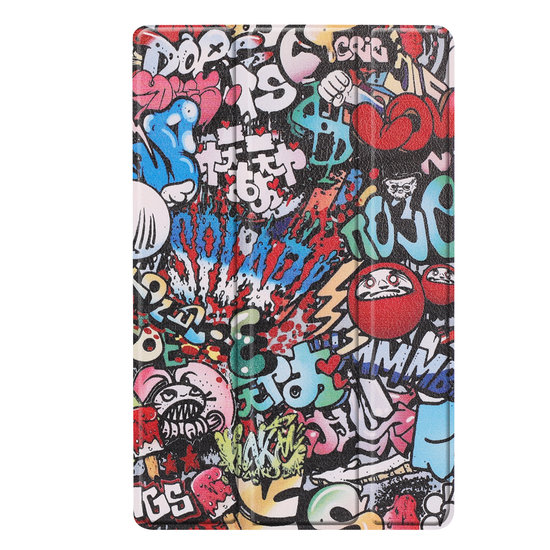 Case2go Samsung Galaxy Tab A 10.1 (2019) hoes - Tri-Fold Book Case - Graffiti