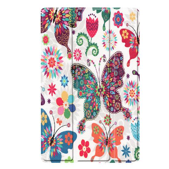 Case2go Samsung Galaxy Tab A 10.1 (2019) hoes - Tri-Fold Book Case - Vlinders