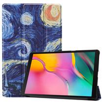 Samsung Galaxy Tab A 10.1 (2019) hoes - Tri-Fold Book Case - Sterrenhemel
