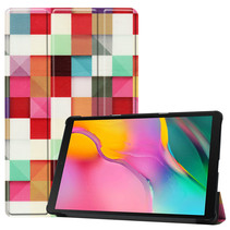 Samsung Galaxy Tab A 10.1 (2019) hoes - Tri-Fold Book Case - Blocks