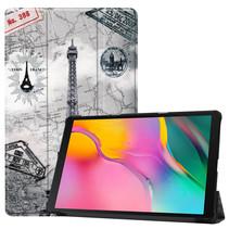 Samsung Galaxy Tab A 10.1 (2019) hoes - Tri-Fold Book Case - Eiffeltoren