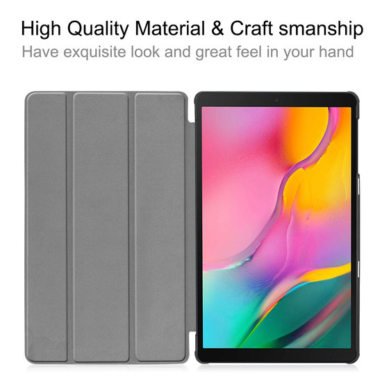 Case2go Samsung Galaxy Tab A 10.1 (2019) hoes - Tri-Fold Book Case - Don't touch me