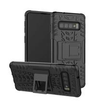 Samsung Galaxy S10 Plus hoes - Schokbestendige Back Cover - Zwart