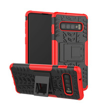 Samsung Galaxy S10 Plus hoes - Schokbestendige Back Cover - Rood