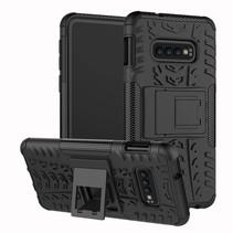 Samsung Galaxy S10 hoes - Schokbestendige Back Cover - Zwart