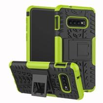 Samsung Galaxy S10 hoes - Schokbestendige Back Cover - Groen