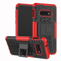 Samsung Galaxy S10 hoes - Schokbestendige Back Cover - Rood
