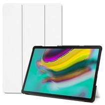 Samsung Galaxy Tab S5e hoes - Tri-Fold Book Case - Wit