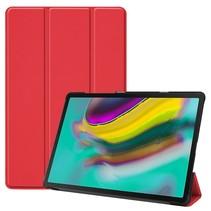 Samsung Galaxy Tab S5e hoes - Tri-Fold Book Case - Rood