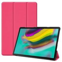 Samsung Galaxy Tab S5e hoes - Tri-Fold Book Case - Magenta