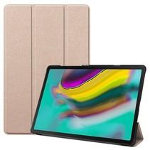 Samsung Galaxy Tab S5e hoes - Tri-Fold Book Case - Goud