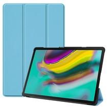 Samsung Galaxy Tab S5e hoes - Tri-Fold Book Case - Licht blauw