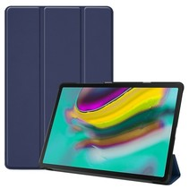 Samsung Galaxy Tab S5e hoes - Tri-Fold Book Case - Donker blauw