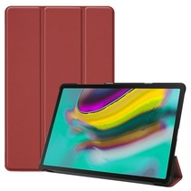 Samsung Galaxy Tab S5e hoes - Tri-Fold Book Case - Donker rood