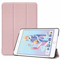 iPad Mini 2019 hoes - Tri-Fold Book Case - Rosé Goud