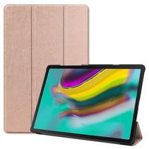 Samsung Galaxy Tab S5e hoes - Tri-Fold Book Case - Rosé goud