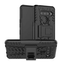 LG V50 ThinQ hoesje - Schokbestendige Back Cover - Zwart