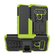 LG V50 ThinQ hoesje - Schokbestendige Back Cover - Groen