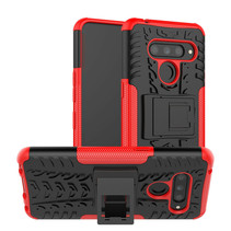 LG V50 ThinQ hoesje - Schokbestendige Back Cover - Rood