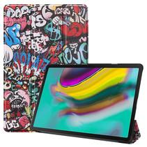 Samsung Galaxy Tab S5e hoes - Tri-Fold Book Case - Graffiti