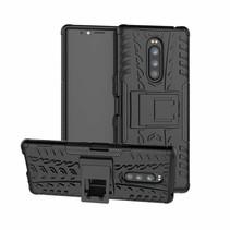 Sony Xperia 1 hoesje - Schokbestendige Back Cover - Zwart