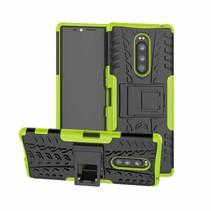 Sony Xperia 1 hoesje - Schokbestendige Back Cover - Groen