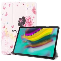 Samsung Galaxy Tab S5e hoes - Tri-Fold Book Case - Flower Fairy