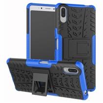 Sony Xperia L3 hoesje - Schokbestendige Back Cover - Blauw